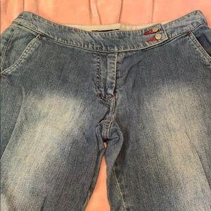 THE LIMITED STRETCH CAPRIS Blue Jeans Sz 6 Z18
